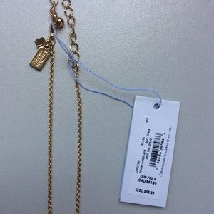 Kate Spade Spot the Spade Necklace in Gold